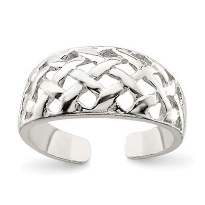 Picture of Sterling Silver Lattice Toe Ring