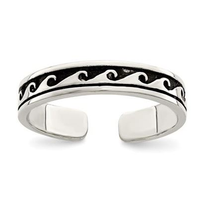 Picture of Sterling Silver Antiqued Adjustable Toe Ring