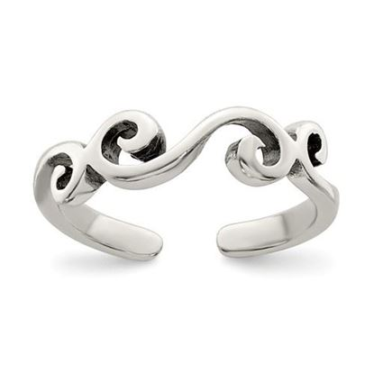 Picture of Sterling Silver Antiqued Toe Ring