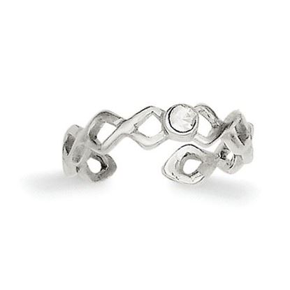 Picture of Sterling Silver CZ Toe Ring