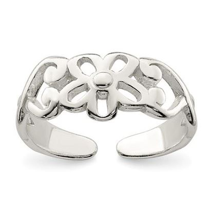 Picture of Sterling Silver Flower Toe Ring