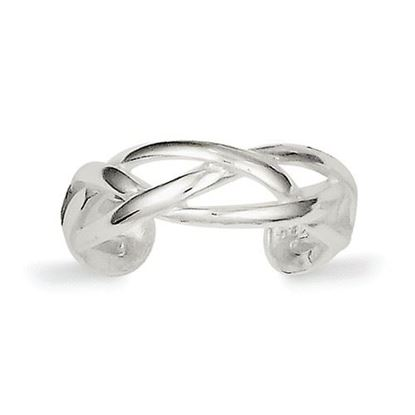 Picture of Sterling Silver Woven Toe Ring