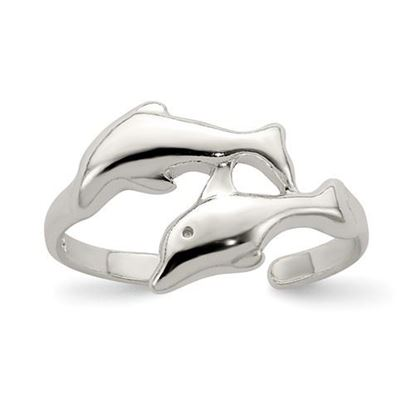 Picture of Sterling Silver Dolphin Toe Ring