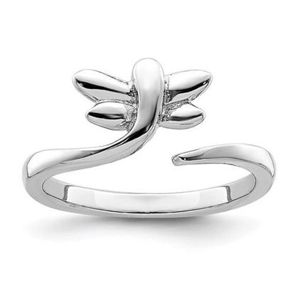 Picture of Sterling Silver Rhodium-plated Dragonfly Toe Ring