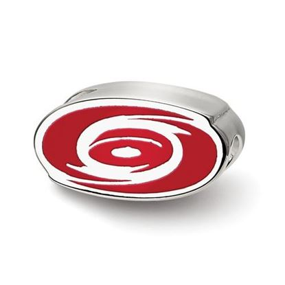 Picture of Carolina Hurricanes® Sterling Silver Enameled Logo Bead