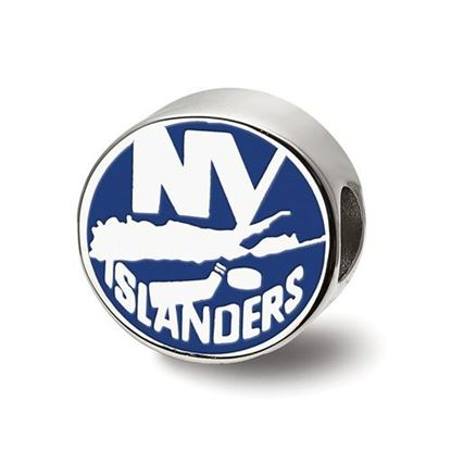 Picture of New York Islanders® Sterling Silver Gold Plated Enameled Logo Bead