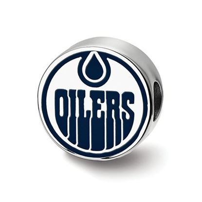 Picture of Edmonton Oilers® Sterling Silver Gold Plated Enameled Logo Bead