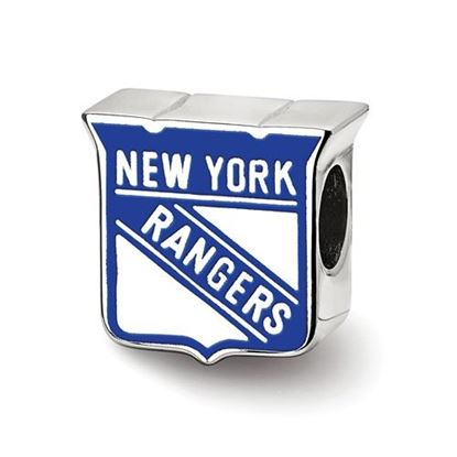 Picture of New York Rangers® Sterling Silver Enameled Logo Bead