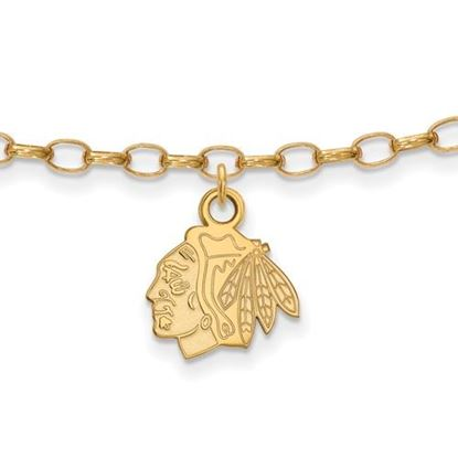Picture of Chicago Blackhawks® Sterling Silver Gold Plated Anklet