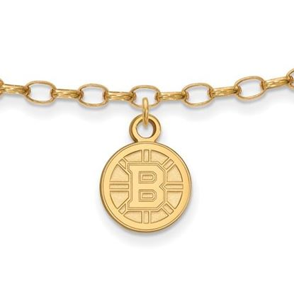 Picture of Boston Bruins® Sterling Silver Gold Plated Anklet