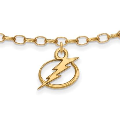 Picture of Tampa Bay Lightning® Sterling Silver Gold Plated Anklet