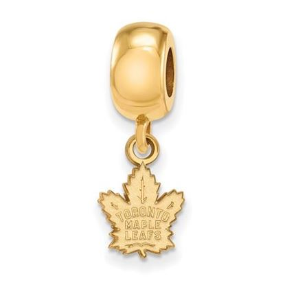 Picture of Toronto Maple Leafs® Sterling Silver Gold Plated Extra Small Dangle Bead Charm