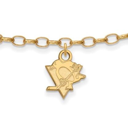 Picture of Pittsburgh Penguins® Sterling Silver Gold Plated Anklet