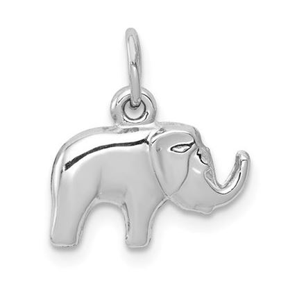 Picture of 14k White Gold Elephant Charm