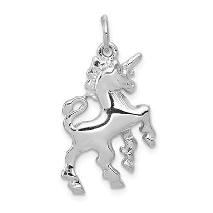 Picture of 14k White Gold Unicorn Charm