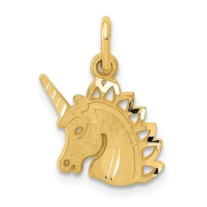Picture of 14k Yellow Gold Unicorn Charm