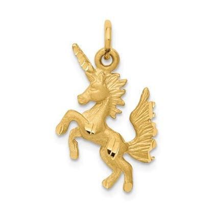Picture of 14k Yellow Gold Dancing Unicorn Charm