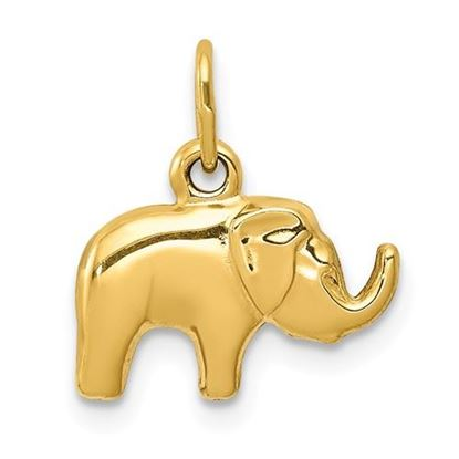 Picture of 14k Yellow Gold Elephant Charm