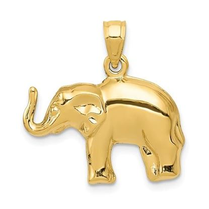 Picture of 14k Yellow Gold Elephant Pendant