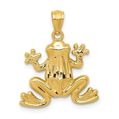 Picture of 14k Yellow Gold Polished Frog Pendant