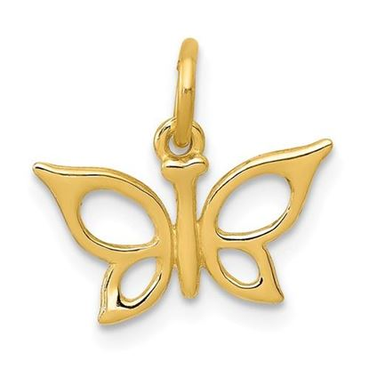 Picture of 14k Yellow Gold Butterfly Charm