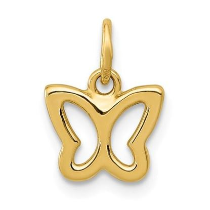 Picture of 14k Yellow Gold Polished Butterfly Pendant