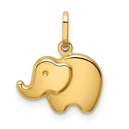 Picture of 14k Yellow Gold Polished Elephant Charm