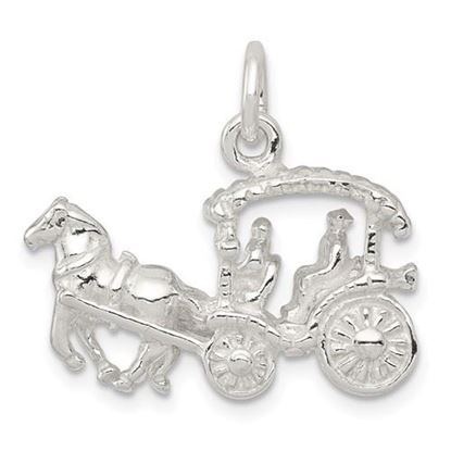Picture of Sterling Silver Horse and Carriage Charm