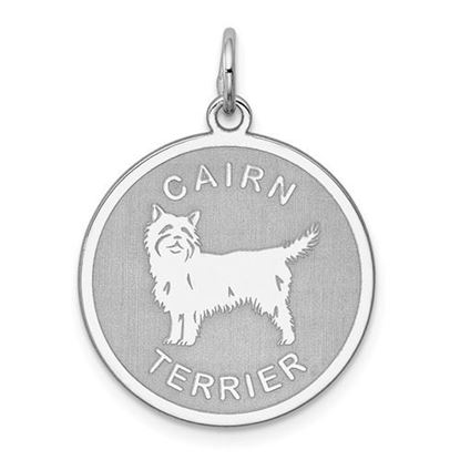 Picture of Sterling Silver Rhodium-plated Cairn Terrier Charm