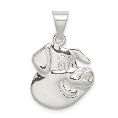 Picture of Sterling Silver Pig Charm