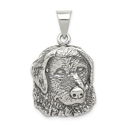 Picture of Sterling Silver Antiqued Dog Charm