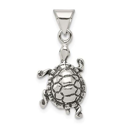 Picture of Sterling Silver Antiqued Turtle Charm