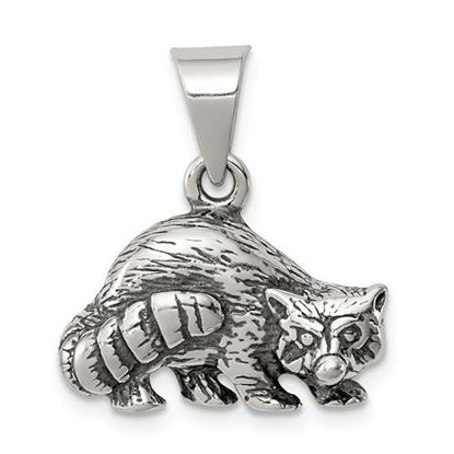 Picture of Sterling Silver Antiqued Raccoon Charm