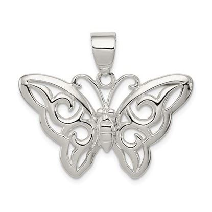 Picture of Sterling Silver Butterfly Pendant