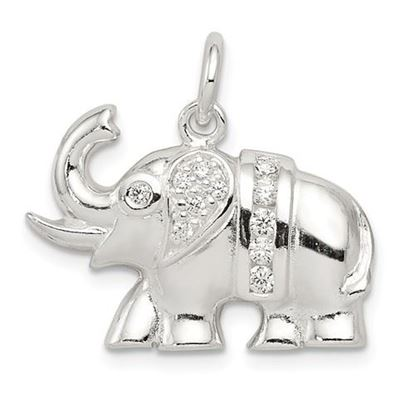 Picture of Sterling Silver CZ Elephant Charm