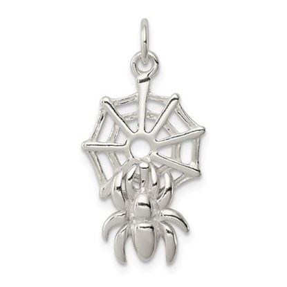 Picture of Sterling Silver Spider on Web Charm