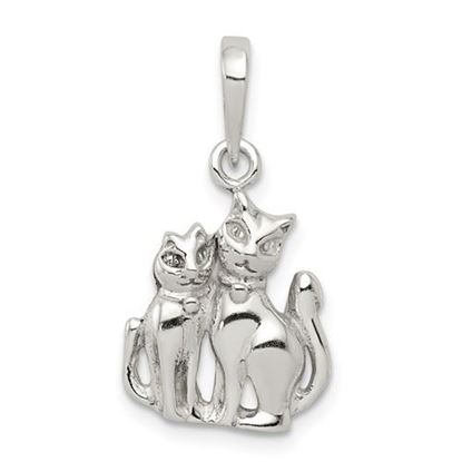 Picture of Sterling Silver Cats Pendant