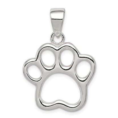 Picture of Sterling Silver Paw Pendant