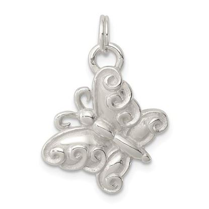 Picture of Sterling Silver Polished Butterfly Charm