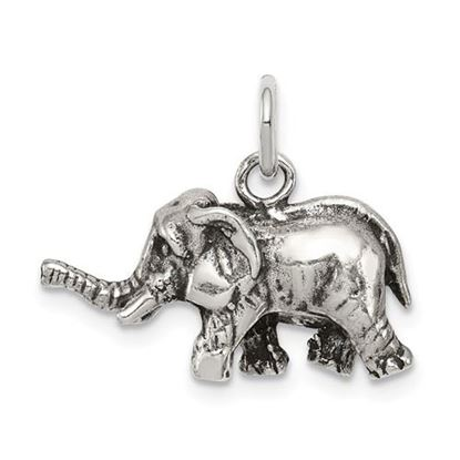 Picture of Sterling Silver Antiqued Elephant Charm