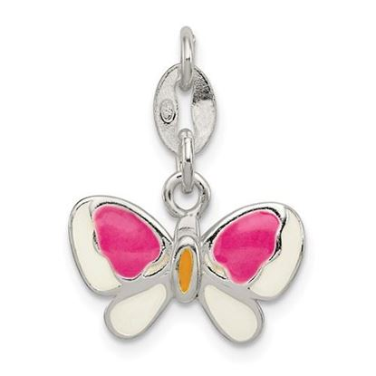 Picture of Sterling Silver Enamel Butterfly Pendant