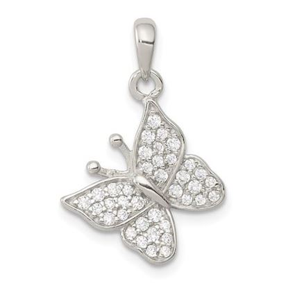 Picture of Sterling Silver CZ Butterfly Pendant