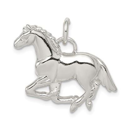 Picture of Sterling Silver Polished and Textured Horse Pendant