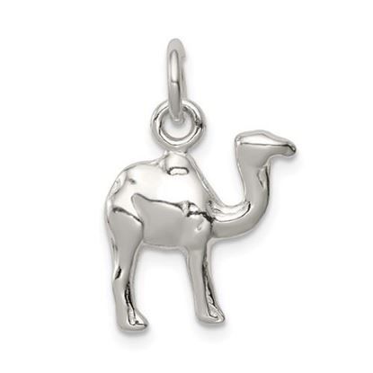 Picture of Sterling Silver Polished Mini 3-D Camel Reversible Pendant