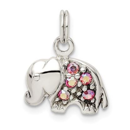 Picture of Sterling Silver Swarovski Crystal Elephant Pendant