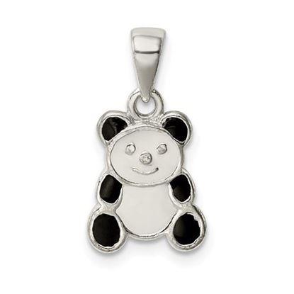 Picture of Sterling Silver Enamel Panda Pendant