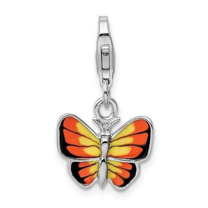 Picture of Sterling Silver And Enameled Butterfly Charm