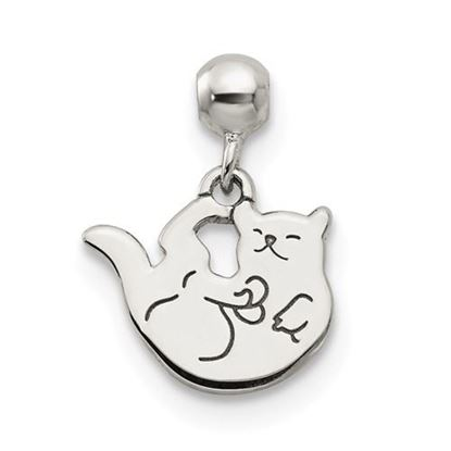Picture of Sterling Silver Mio Memento Dangle Cat Charm