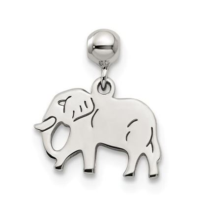 Picture of Sterling Silver Mio Memento Dangle Elephant Charm
