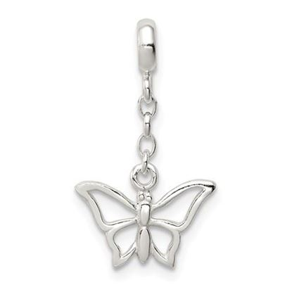 Picture of Sterling Silver Butterfly Dangle Enhancer